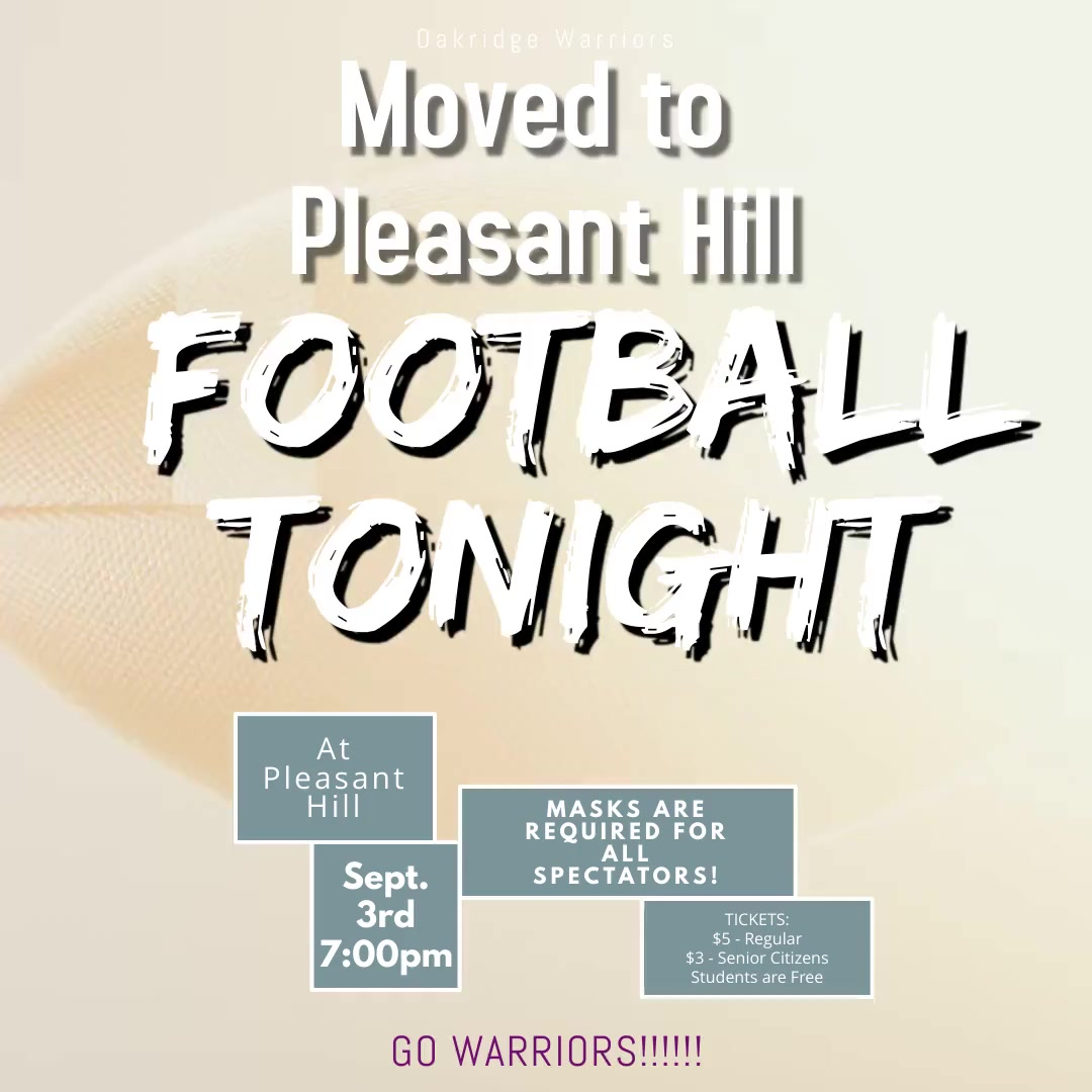 Game Moved to Pleasant Hill