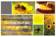 """""""Believe That You Can"""" Mood Board Poster template"""