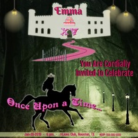 """Mis Quince"" Fantasy Castle Square (1:1) template"