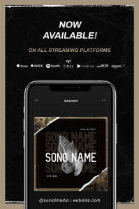 """""""New Single"""" NEW ALBUM RELEASE AVAILABLE - POSTER TEMPLATE"""