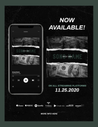"""New Single"" NEW ALBUM RELEASE AVAILABLE Pamflet (VSA Brief) template"