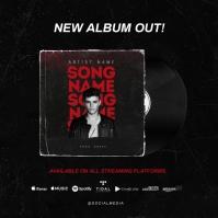 """""""New Single"""" NEW ALBUM RELEASE OUT Now Okładka albumu template"""