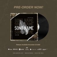 """""""New Single"""" NEW ALBUM RELEASE PRE-ORDER NOW! Pochette d'album template"""