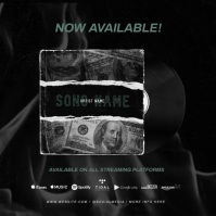 """New Single"" NEW ALBUM RELEASE PROMO AD template"
