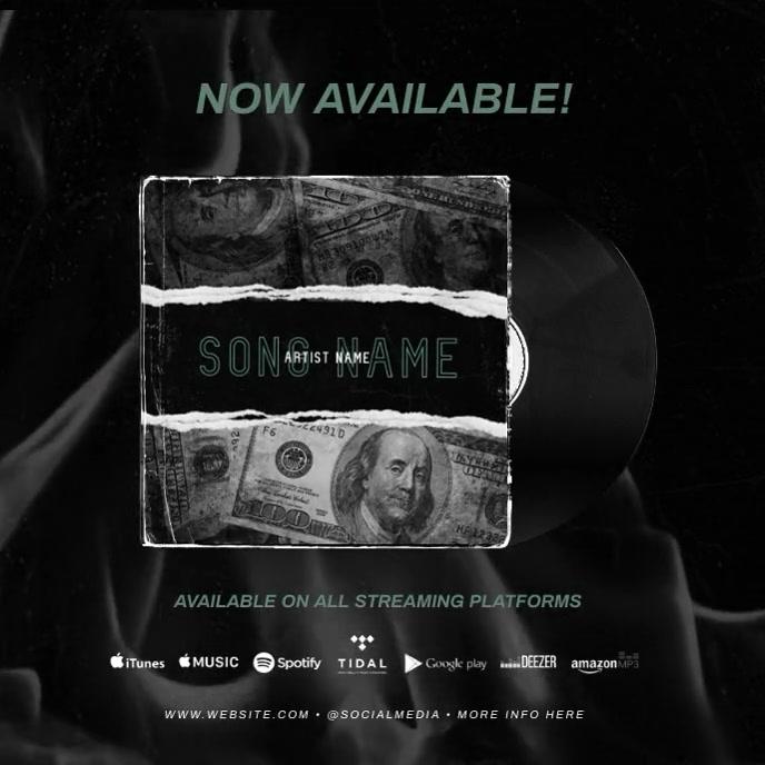 """""""New Single"""" NEW ALBUM RELEASE PROMO AD template"""