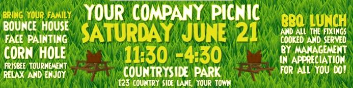 #1 company picnic banner 2x8