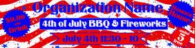 #3 patriotic banner Cartel de 2 × 8 pulg. template