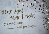 'Thinking of You' Starlight Card Postcard template