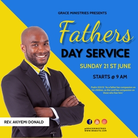 ]FATHERS DAY SERVICE Square (1:1) template
