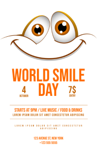 `World Smile Day Flyer Template