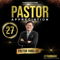 chinese church pastor ad design template Instagram na Post
