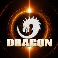 dragon gaming logo template