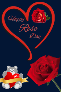 Rose day Poster template