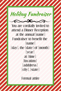 Holiday Christmas Fundraiser Invitation Flyer Poster