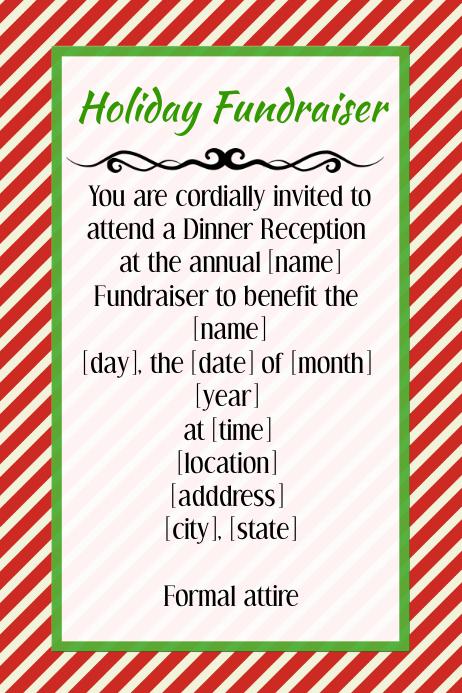 Christmas Fundraiser Flyer.Holiday Christmas Fundraiser Invitation Flyer Poster