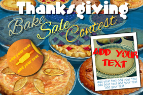 Pie Bake Sale Contest Dessert Bakery Community Event Flyer