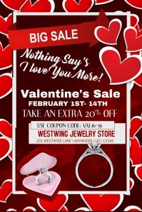 Valentine's Jewelry Sales Event Template