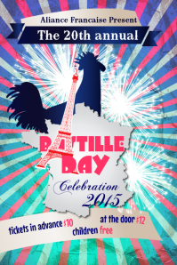 Bastille Day Flyer Templates Плакат