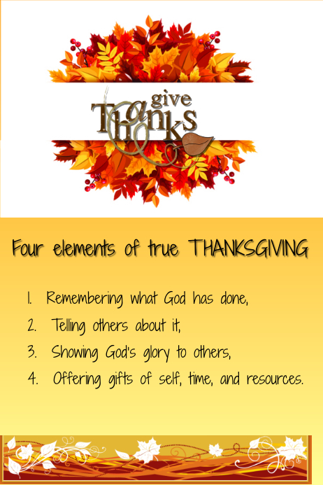 Give thanks Template | PosterMyWall