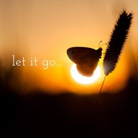 01 Let it go Instagram Post template