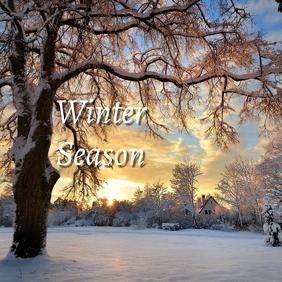 01 Winter Season Instagram Post template