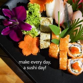 02 Sushi Love Instagram Post template