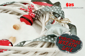 Christmas Wreaths for Sale Template