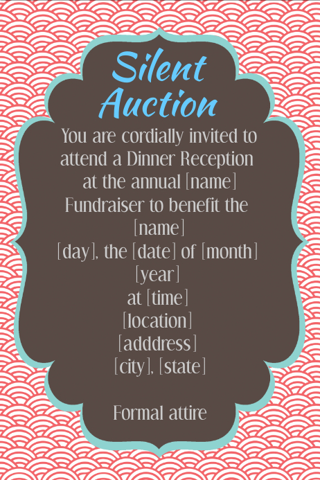 Silent Auction Poster Template Yeniscale