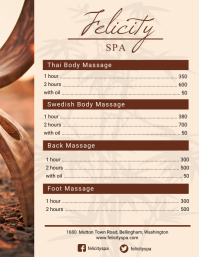 Rustic Spa Menu Design
