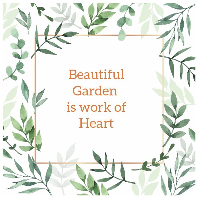 04 Garden Instagram-opslag template
