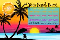 Summer Beach Event Flyer Poster