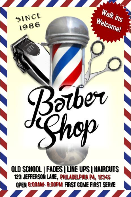 barbershop Cartaz template