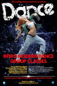 Modern dance Classes Poster