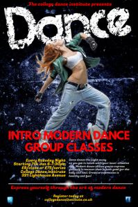 Modern dance Classes Poster