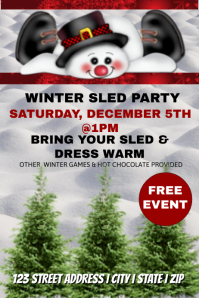 Winter Sled Party Event Template