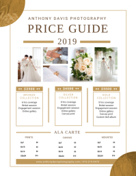 Modern Photography Price List Flyer (US Letter) template