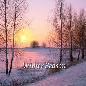 07 Winter Season Instagram Post template