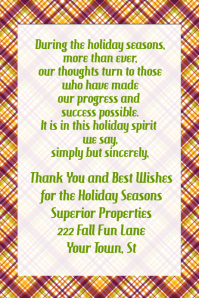 Fall Plaid Flyer Announcement Poster Invitation Business