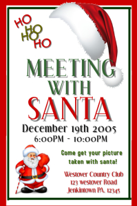 Customizable design templates for meet santa postermywall christmas christmas meet santa m4hsunfo