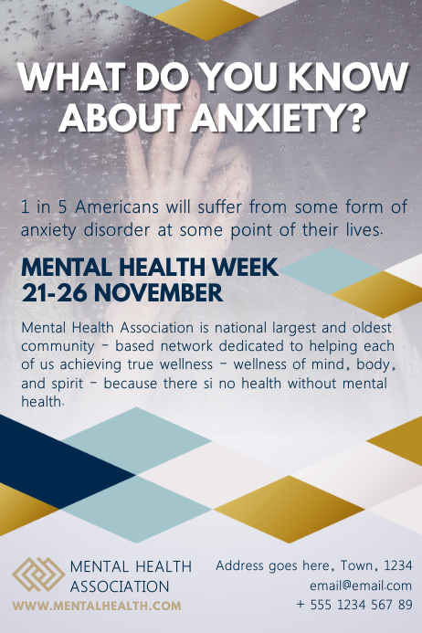 Mental Health Poster Template