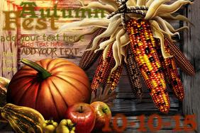 Fall Autumn Halloween Thanksgiving Festival Event Decor Flyer