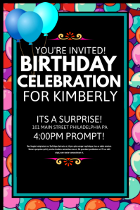 how to make a birthday flyer free