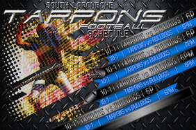 Metal FOOTBALL Sports Team Schedule