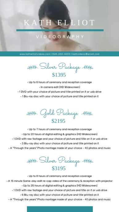 Wedding Planner Package List Design