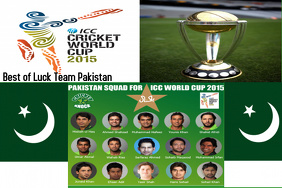 Best of luck pakistan for world cup Poster template