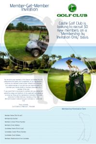 Golf Club Invitation