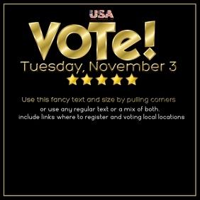 Instagram Post Vote Election