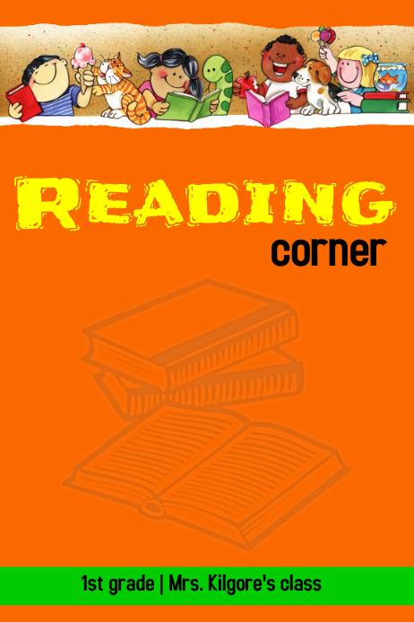 Reading corner sign