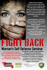 Woman's Self Defense Flyer