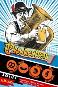 Funny Oktoberfest Music Fest Event Flyer Ad Poster